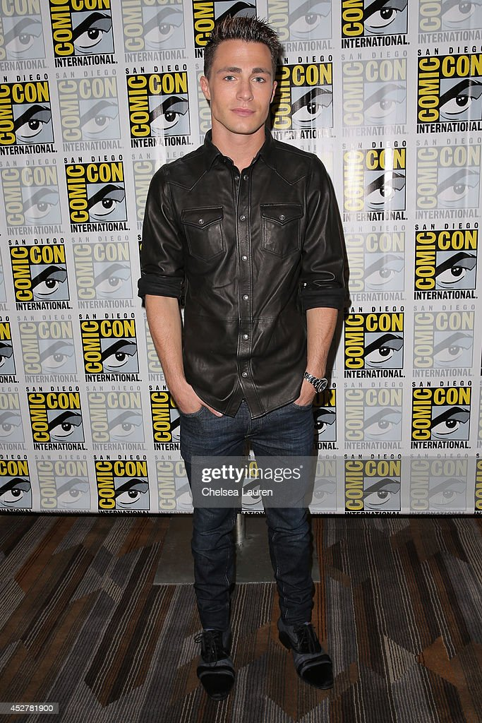 Actor <a gi-track='captionPersonalityLinkClicked' href=/galleries/search?phrase=Colton+Haynes&family=editorial&specificpeople=4282136 ng-click='$event.stopPropagation()'>Colton Haynes</a> attends the 'Arrow' press room at Comic-Con International on July 26, 2014 in San Diego, California.