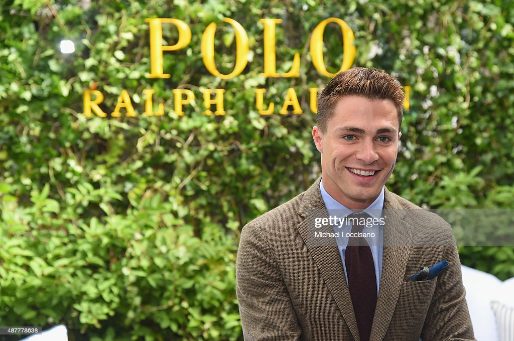 Actor Colton Haynes attends the Polo Ralph Lauren fashion show during Spring 2016 New York Fashion Week at Gallow Green at the McKittrick Hotel on September 11, 2015 in New York City.
