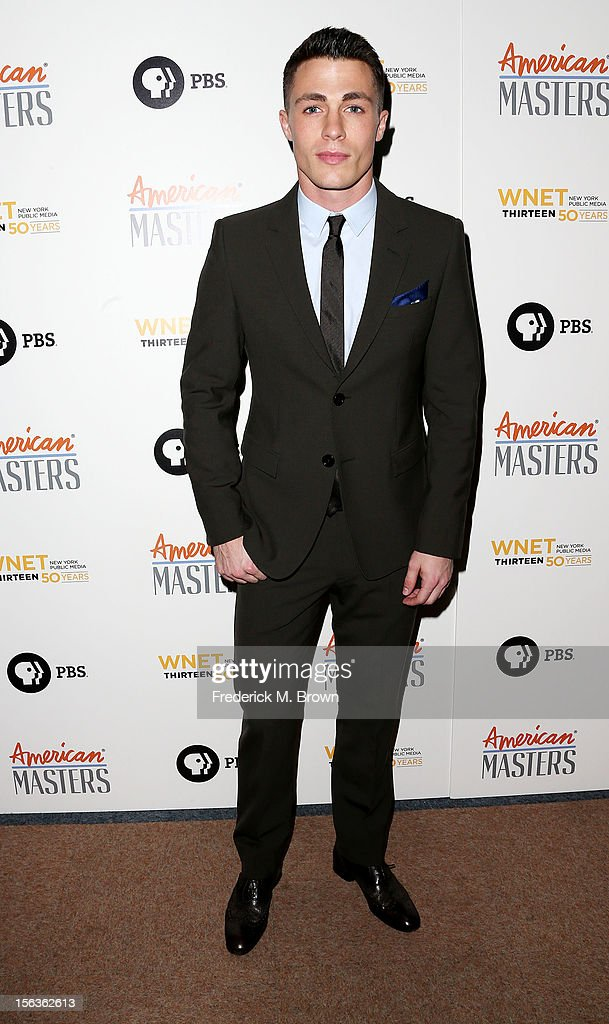 Actor <a gi-track='captionPersonalityLinkClicked' href=/galleries/search?phrase=Colton+Haynes&family=editorial&specificpeople=4282136 ng-click='$event.stopPropagation()'>Colton Haynes</a> attends the Premiere Of 'American Masters Inventing David Geffen' at The Writers Guild of America on November 13, 2012 in Beverly Hills, California.