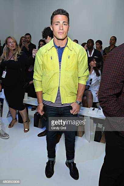 Actor Colton Haynes attends the Richard Chai fashion show during New York Fashion Week Men's S/S 2016 at Skylight Clarkson Sq on July 15 2015 in New...