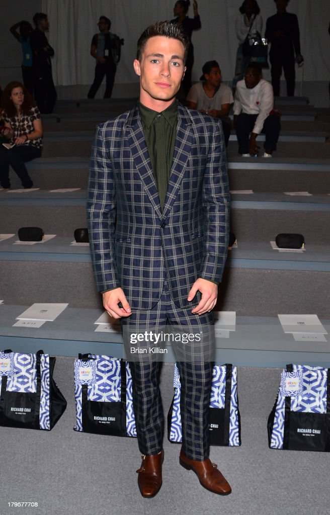 Actor Colton Haynes attends the Richard Chai -- Love & Richard Chai Men's show during Spring 2014 Mercedes-Benz Fashion Week at The Stage at Lincoln Center on September 5, 2013 in New York City.