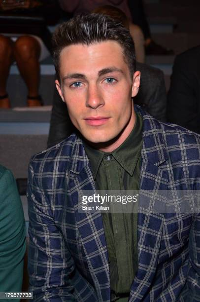 Actor Colton Haynes attends the Richard Chai Love Richard Chai Men's show during Spring 2014 MercedesBenz Fashion Week at The Stage at Lincoln Center...