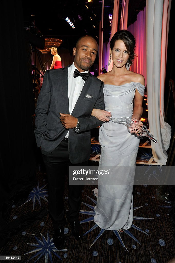 Actor <a gi-track='captionPersonalityLinkClicked' href=/galleries/search?phrase=Columbus+Short&family=editorial&specificpeople=536546 ng-click='$event.stopPropagation()'>Columbus Short</a> and actress <a gi-track='captionPersonalityLinkClicked' href=/galleries/search?phrase=Kate+Beckinsale&family=editorial&specificpeople=202911 ng-click='$event.stopPropagation()'>Kate Beckinsale</a> poses with the Lacoste Spolight Award during the 14th Annual Costume Designers Guild Awards With Presenting Sponsor Lacoste held at The Beverly Hilton hotel on February 21, 2012 in Beverly Hills, California.