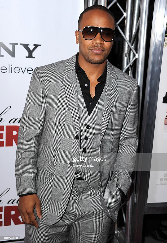 Actor Columbus Short (L) and guest attends the 'Death At A Funeral' Los Angeles Premiere at Pacific's Cinerama Dome on April 12, 2010 in Hollywood, California.