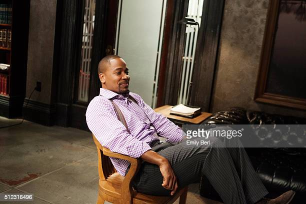 Actor Columbus Short is photographed on set of ABC's 'Scandal' for The Hollywood Reporter on March 14 2013 in Los Angeles California