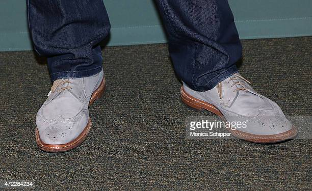 Actor comedian and author Brad Garrett shoe detail attends his book signing for 'When The Balls Drop' at Barnes Noble Tribeca on May 5 2015 in New...