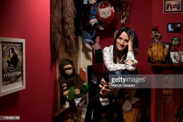 Actor comedian and ventriloquist Nina Conti is photographed for the Financial Times on May 22 2012 in London England