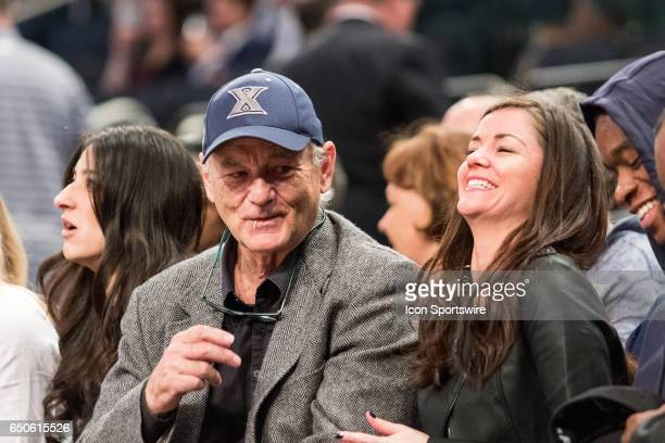 Actor comedian Bill Murray and father to Xaviers assistant coach Luke Murray has a few laughs during the first round of the BigEast Conference men's...