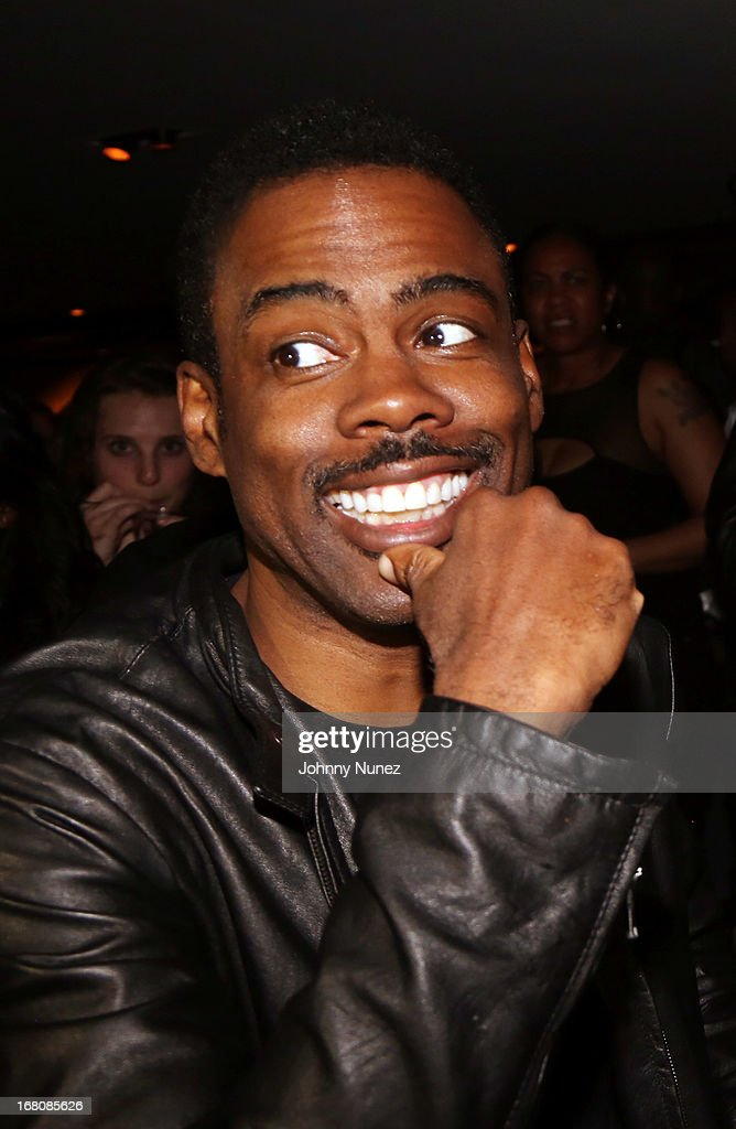 Actor/ comedian <a gi-track='captionPersonalityLinkClicked' href=/galleries/search?phrase=Chris+Rock&family=editorial&specificpeople=202982 ng-click='$event.stopPropagation()'>Chris Rock</a> attends the Rihanna After Party + Fight at the 40 / 40 Club on May 4, 2013, in New York City.