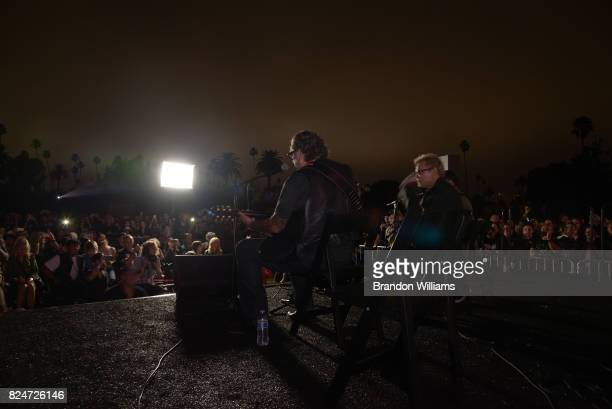 Actor / comedian Fred Armisen musican Billy Idol and musician Steve Jones perform on stage at the Johnny Ramone Tribute and special screening of...