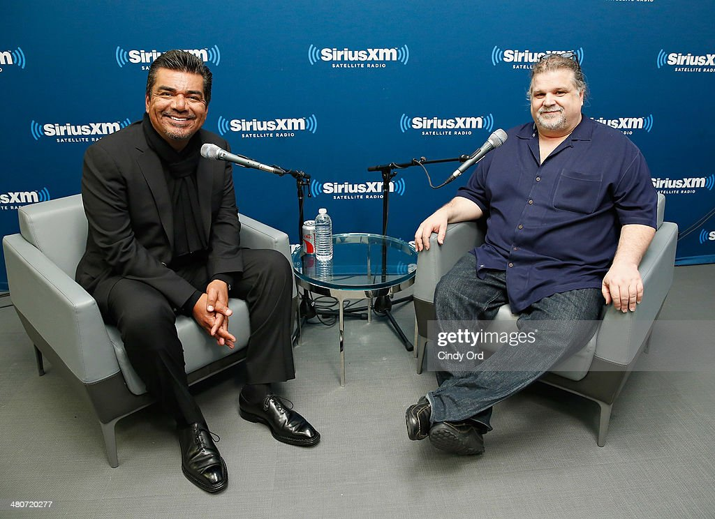 Actor/ comedian <a gi-track='captionPersonalityLinkClicked' href=/galleries/search?phrase=George+Lopez&family=editorial&specificpeople=202546 ng-click='$event.stopPropagation()'>George Lopez</a> (L) takes part in SiriusXM's Town Hall with <a gi-track='captionPersonalityLinkClicked' href=/galleries/search?phrase=George+Lopez&family=editorial&specificpeople=202546 ng-click='$event.stopPropagation()'>George Lopez</a>, moderated by Ron Bennington (R) at the SiriusXM Studios on March 26, 2014 in New York City.
