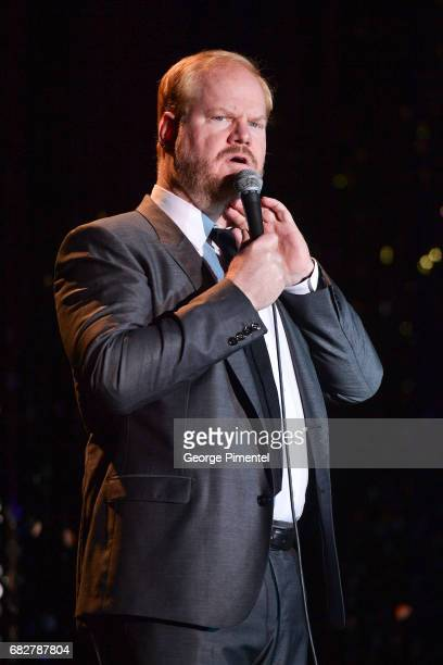 Actor/ Comedian Jim Gaffigan performs at Laughter Is The Best Medicine III Gala at Beanfield Centre Exhibition Place on May 13 2017 in Toronto Canada