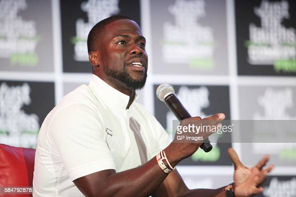 Actor Comedian Kevin Hart attends Just For Laughs Comedy PRO with his Laugh Out Loud Network Pitch Panel held at The Hyatt Regency Montreal on July...
