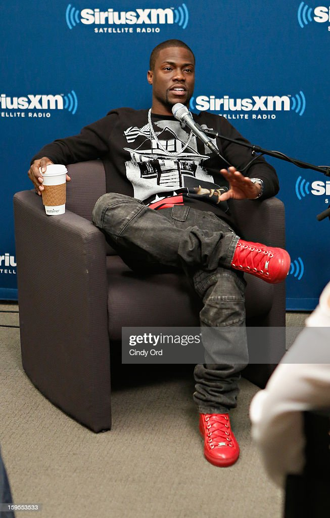 Actor/ comedian Kevin Hart is intervied during 'SiriusXM's Town Hall with Kevin Hart' moderated by Sway Calloway on Raw Dog Comedy at the SiriusXM studios on January 15, 2013 in New York City.