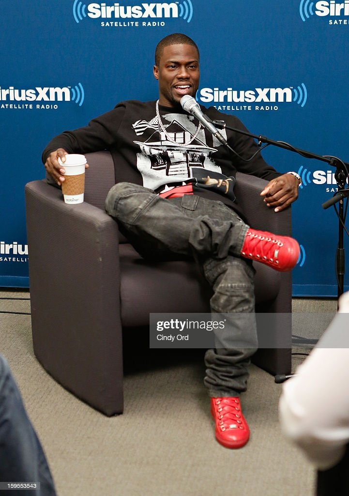 Actor/ comedian <a gi-track='captionPersonalityLinkClicked' href=/galleries/search?phrase=Kevin+Hart+-+Actor&family=editorial&specificpeople=4538838 ng-click='$event.stopPropagation()'>Kevin Hart</a> is intervied during 'SiriusXM's Town Hall with <a gi-track='captionPersonalityLinkClicked' href=/galleries/search?phrase=Kevin+Hart+-+Actor&family=editorial&specificpeople=4538838 ng-click='$event.stopPropagation()'>Kevin Hart</a>' moderated by Sway Calloway on Raw Dog Comedy at the SiriusXM studios on January 15, 2013 in New York City.