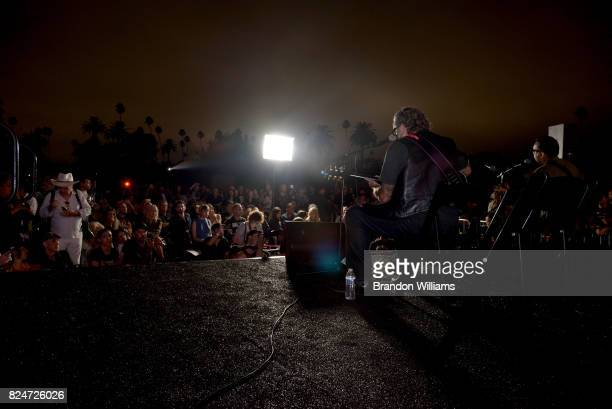 Actor / comedian / musican Fred Armisen and musician Steve Jones perform on stage atthe Johnny Ramones tribute at Hollywood Forever on July 30 2017...