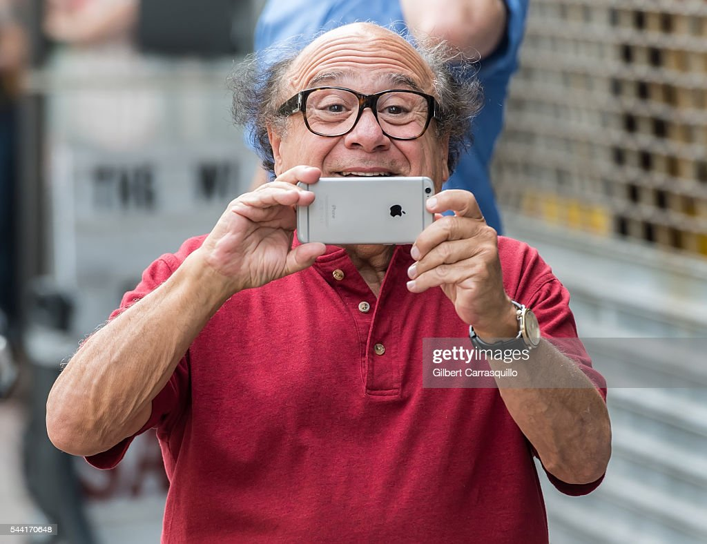 Actor, comedian, producer and director, <a gi-track='captionPersonalityLinkClicked' href=/galleries/search?phrase=Danny+DeVito&family=editorial&specificpeople=210718 ng-click='$event.stopPropagation()'>Danny DeVito</a> is seen filming scenes of season 12 of 'It's Always Sunny In Philadelphia' sitcom on July 1, 2016 in Philadelphia, Pennsylvania.