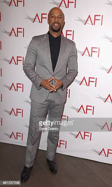Actor Common attends the 15th Annual AFI Awards at Four Seasons Hotel Los Angeles at Beverly Hills on January 9 2015 in Beverly Hills California