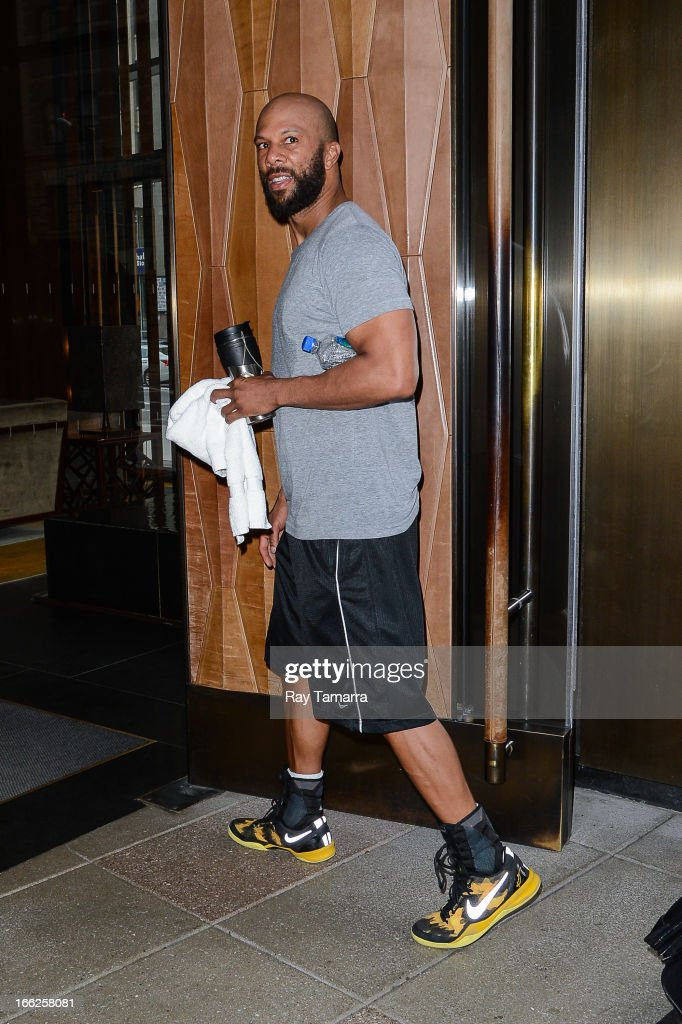 Actor Common enters his Soho hotel on April 10, 2013 in New York City.