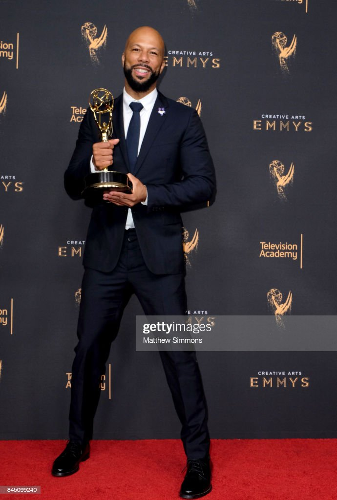 Actor Common poses in the pressroom during the 2017 Creative Arts Emmy Awards at Microsoft Theater on September 9, 2017 in Los Angeles, California.