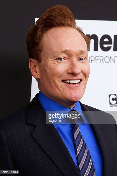 Actor Conan O'Brien attends the Turner Upfront 2016 arrivals at The Theater at Madison Square Garden on May 18 2016 in New York City
