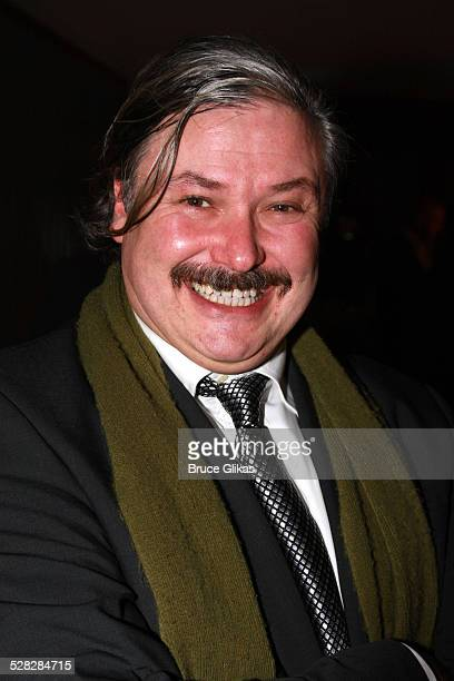 Actor Conleth Hill poses as he arrives for the Opening Night After Party for Conor McPherson's play The Seafarer on Broadway at The Booth Theater on...