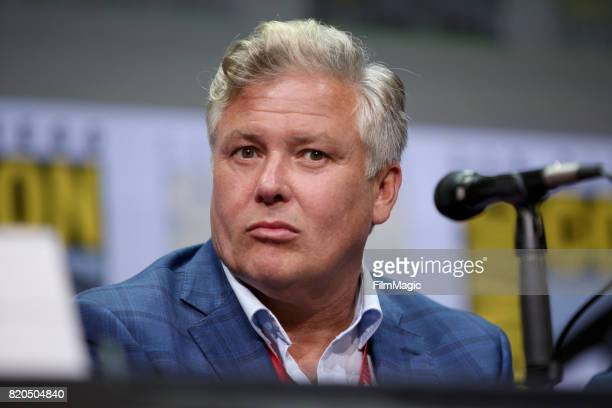 Actor Conleth Hill speaks at the 'Game of Thrones' panel with HBO at San Diego ComicCon International 2017 at San Diego Convention Center on July 21...