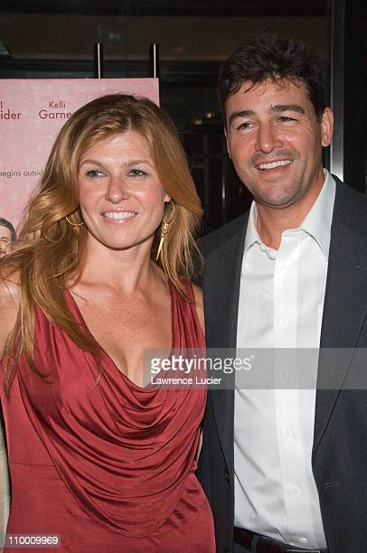 Actor Connie Britton and actor Kyle Chandler arrives at the New York screening of Lars And The Real Girl October 3 at the Paris Theater in New York...