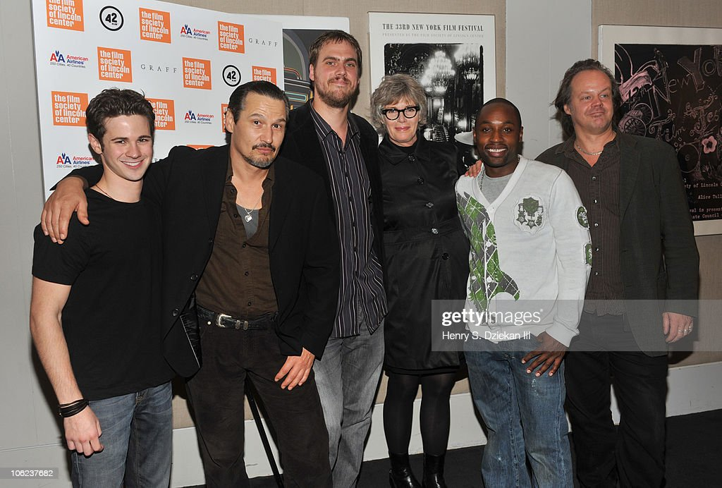 Actor Connor Paolo, actor Nick Damici, director Jim Mickle, actress Kelly McGillis, actor Sean Nelson and producer Larry Fessenden attend the 'Stake Land' premiere at The Film Society of Lincoln Center on October 27, 2010 in New York City.