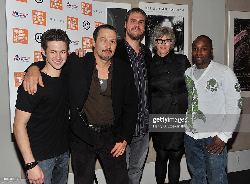 Actor Connor Paolo, actor Nick Damici, director Jim Mickle, actress Kelly McGillis and actor Sean Nelson attend the 'Stake Land' premiere at The Film Society of Lincoln Center on October 27, 2010 in New York City.