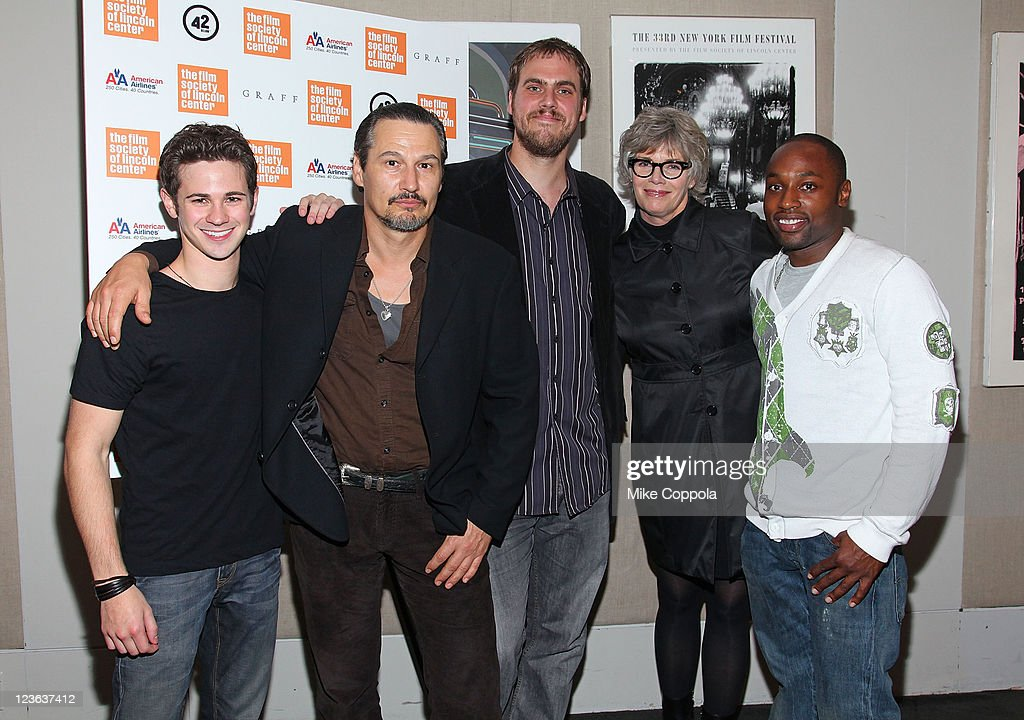 Actor <a gi-track='captionPersonalityLinkClicked' href=/galleries/search?phrase=Connor+Paolo&family=editorial&specificpeople=4452064 ng-click='$event.stopPropagation()'>Connor Paolo</a>, actor Nick Damici, director Jim Mickle, actress <a gi-track='captionPersonalityLinkClicked' href=/galleries/search?phrase=Kelly+McGillis&family=editorial&specificpeople=673497 ng-click='$event.stopPropagation()'>Kelly McGillis</a> and actor Sean Nelson attend the 'Stake Land' premiere at The Film Society of Lincoln Center on October 27, 2010 in New York City.