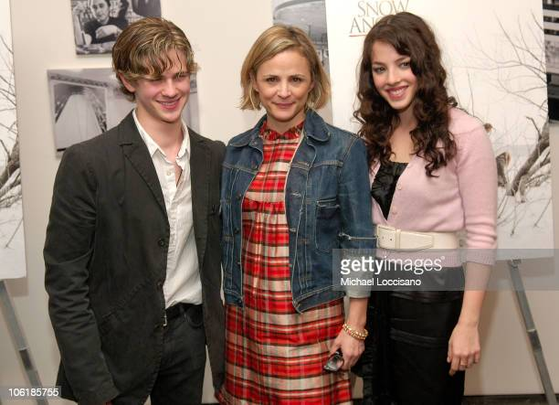 Actor Connor Paolo and actresses Amy Sedaris and Olivia Thirlby attend the Warner Independent Pictures screening Of 'Snow Angels' at The Museum of...