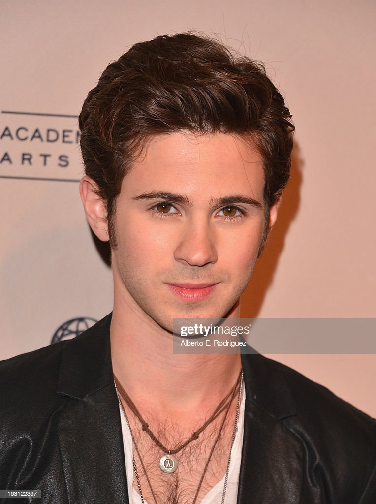 Actor <a gi-track='captionPersonalityLinkClicked' href=/galleries/search?phrase=Connor+Paolo&family=editorial&specificpeople=4452064 ng-click='$event.stopPropagation()'>Connor Paolo</a> arrives to the Academy of Television Arts and Sciences' An Evening with 'Revenge' at Leonard H. Goldenson Theatre on March 4, 2013 in North Hollywood, California.