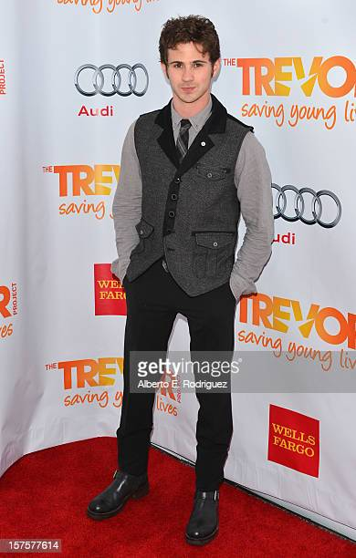 Actor Connor Paolo arrives to The Trevor Project's 'Trevor Live' event honoring singer Katy Perry at the Hollywood Palladium on December 2 2012 in...
