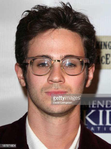 Actor Connor Paolo attends Mending Kids International's 'Four Kings An Ace' Celebrity Poker Tournament at The London Hotel on December 1 2012 in West...