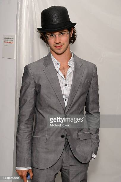 Actor Connor Paolo attends Tyler Shields debut of MOUTHFUL presented by A/X Armani Exchange in support of LOVE IS LOUDER at a Private Studio on May...