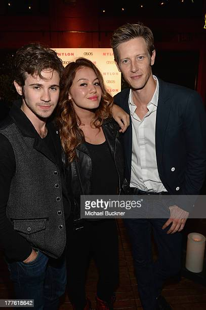 Actor Connor Paolo singer Guinevere and acto Gabriel Mann attends the NYLON September Issue Party hosted by NYLON ASOS and Emily VanCamp at The...