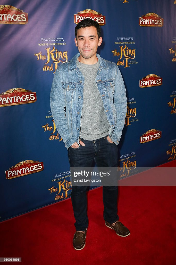 Actor Conrad Ricamora arrives at the Opening Night of The Lincoln Center Theater's Production Of Rodgers and Hammerstein's 'The King and I' at the Pantages Theatre on December 15, 2016 in Hollywood, California.