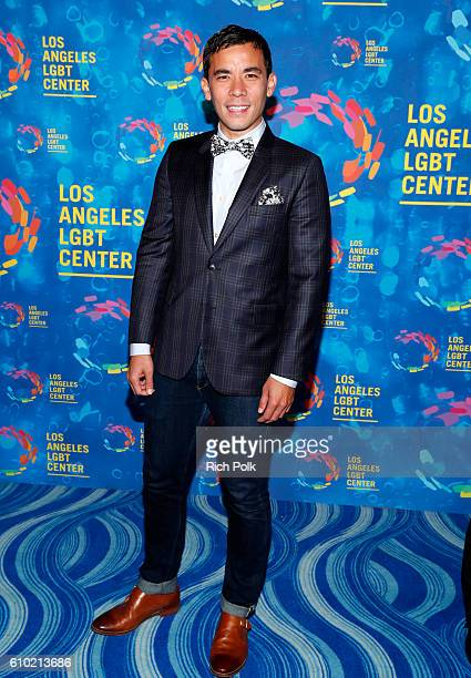 Actor Conrad Ricamora attends the Los Angeles LGBT Center 47th Anniversary Gala Vanguard Awards at Pacific Design Center on September 24 2016 in West...