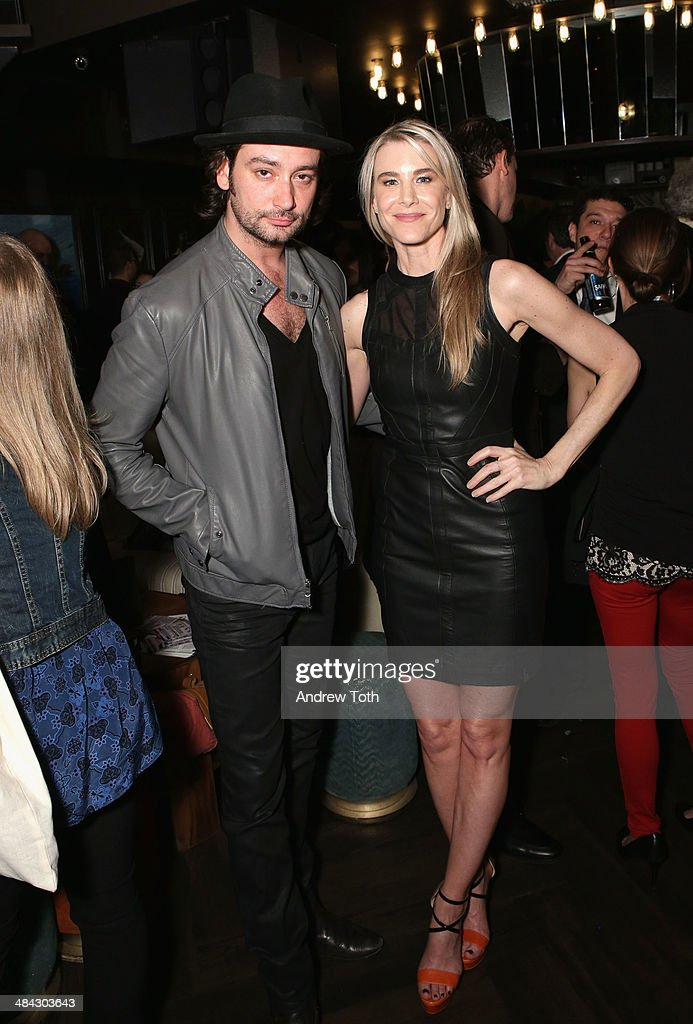 Actor Constantine Maroulis (L) and Rock Paper Photo, Director of Fine Art Sales Jody Britt (wearing Rudsak) attend the FairVote Benefit hosted by Krist Novoselic and Rock Paper Photo at No.8 on April 11, 2014 in New York City.
