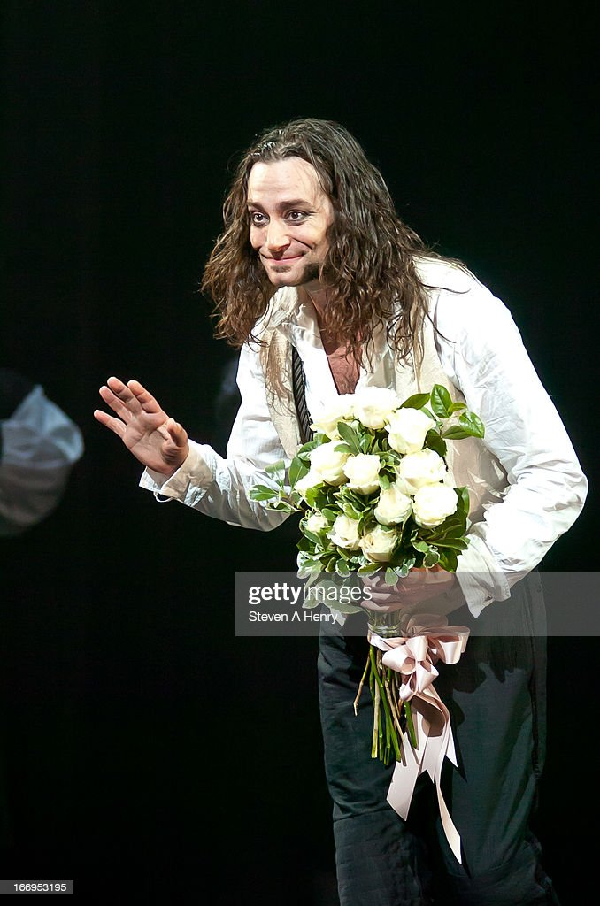 Actor <a gi-track='captionPersonalityLinkClicked' href=/galleries/search?phrase=Constantine+Maroulis&family=editorial&specificpeople=208875 ng-click='$event.stopPropagation()'>Constantine Maroulis</a> attends curtain fall for the Broadway opening night of 'Jekyll & Hyde The Musical' at the Marquis Theatre on April 18, 2013 in New York City.