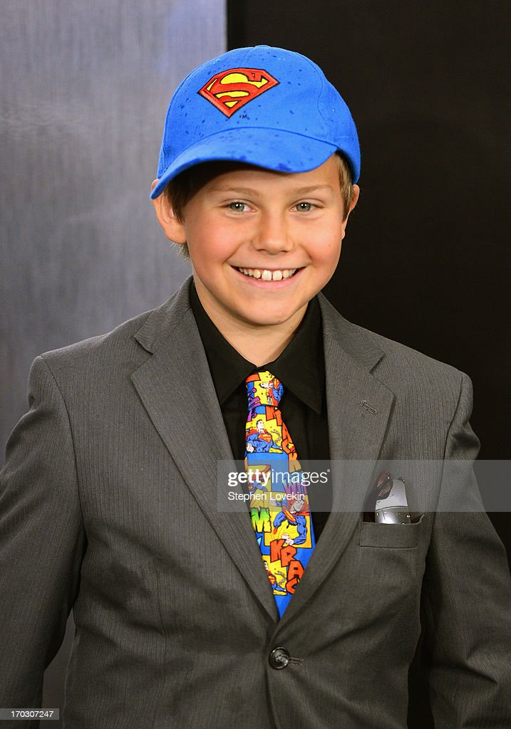 Actor Cooper Timberline attends the 'Man Of Steel' world premiere at Alice Tully Hall at Lincoln Center on June 10, 2013 in New York City.