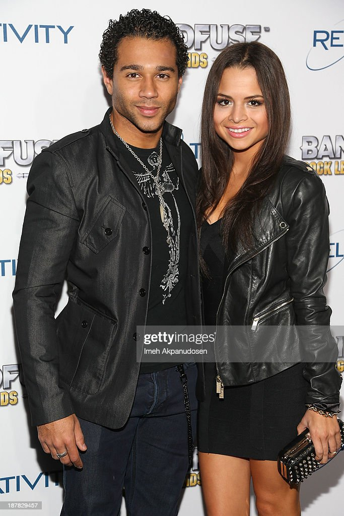 Actor <a gi-track='captionPersonalityLinkClicked' href=/galleries/search?phrase=Corbin+Bleu&family=editorial&specificpeople=651888 ng-click='$event.stopPropagation()'>Corbin Bleu</a> (L) and actress Sasha Clements attend the BandFuse: Rock Legends video game launch event at House of Blues Sunset Strip on November 12, 2013 in West Hollywood, California.