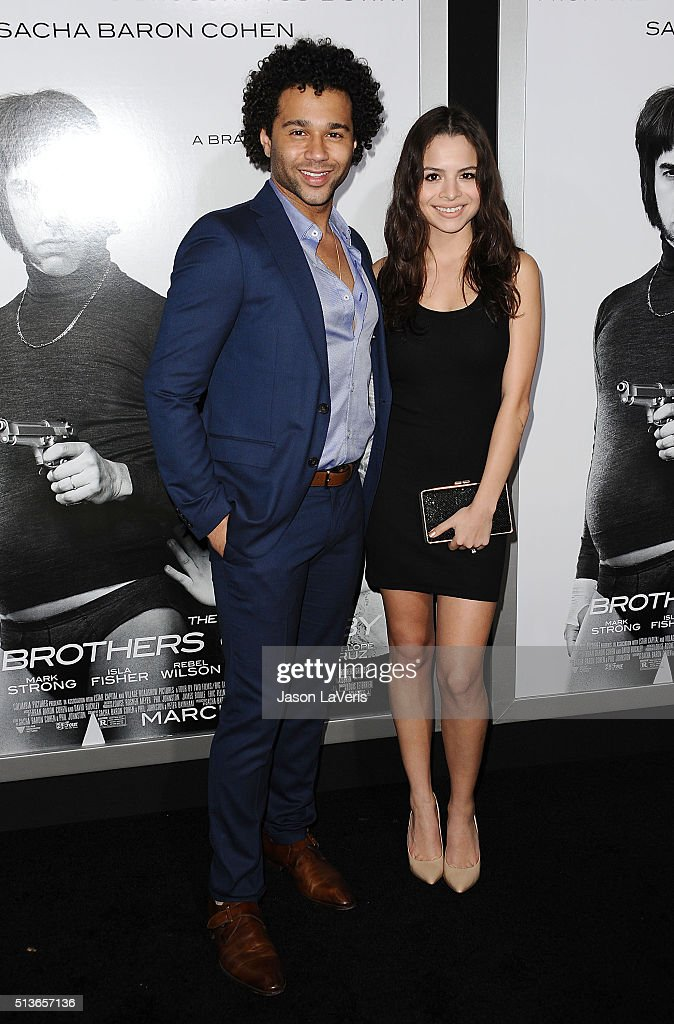 Actor Corbin Bleu and actress Sasha Clements attend the premiere of 'The Brothers Grimsby' at Regency Village Theatre on March 3 2016 in Westwood...