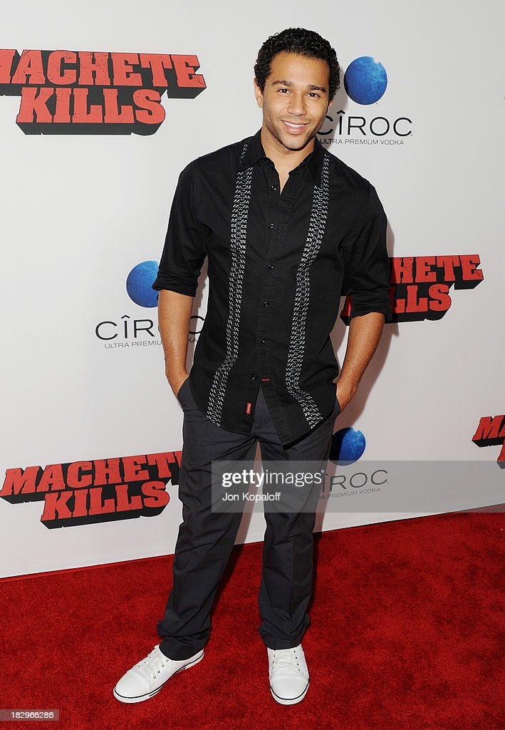 Actor <a gi-track='captionPersonalityLinkClicked' href=/galleries/search?phrase=Corbin+Bleu&family=editorial&specificpeople=651888 ng-click='$event.stopPropagation()'>Corbin Bleu</a> arrives at the Los Angeles Premiere 'Machete Kills' at Regal Cinemas L.A. Live on October 2, 2013 in Los Angeles, California.