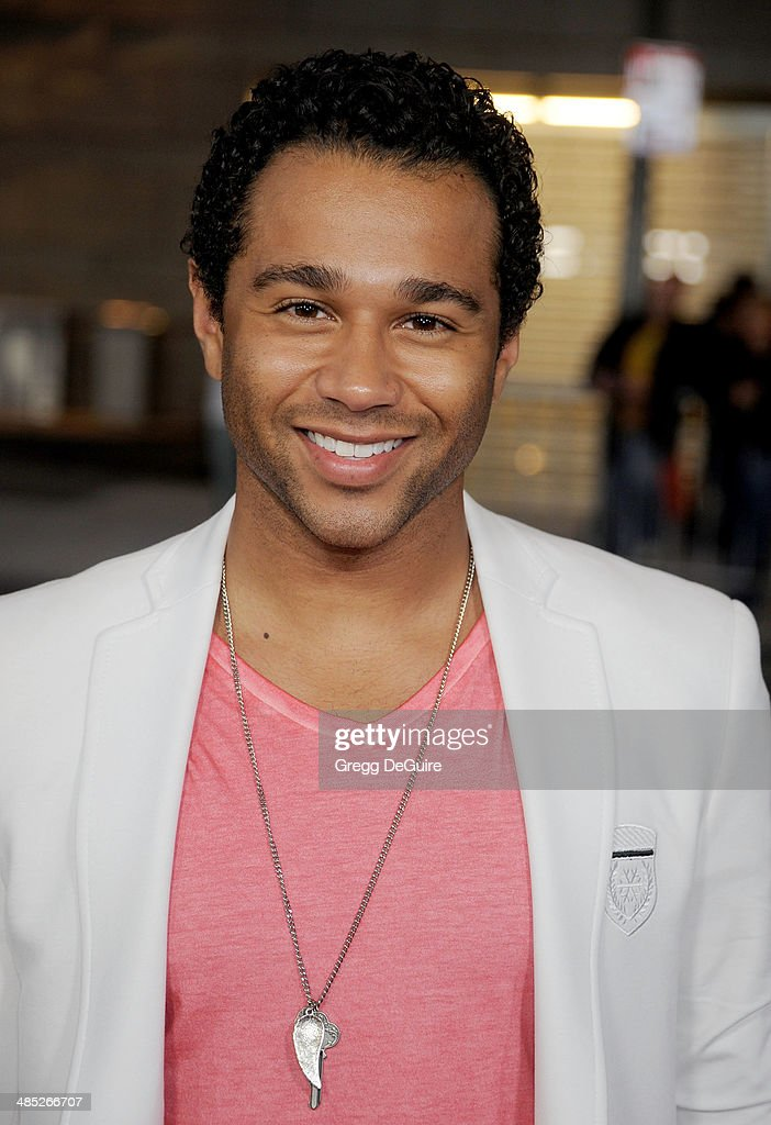 Actor Corbin Bleu arrives at the Los Angeles premiere of 'A Haunted House 2' at Regal Cinemas LA Live on April 16 2014 in Los Angeles California