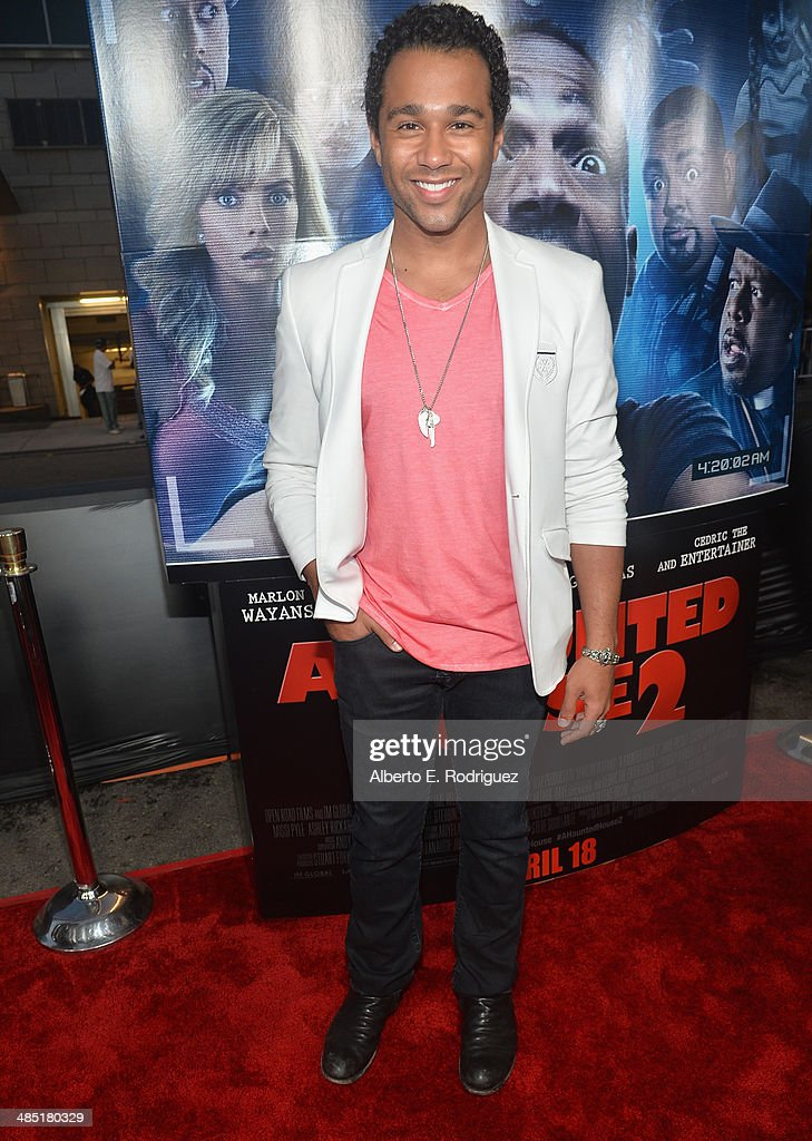 Actor Corbin Bleu arrives to the premiere of Open Road Films' 'A Haunted House 2' at Regal Cinemas LA Live on April 16 2014 in Los Angeles California