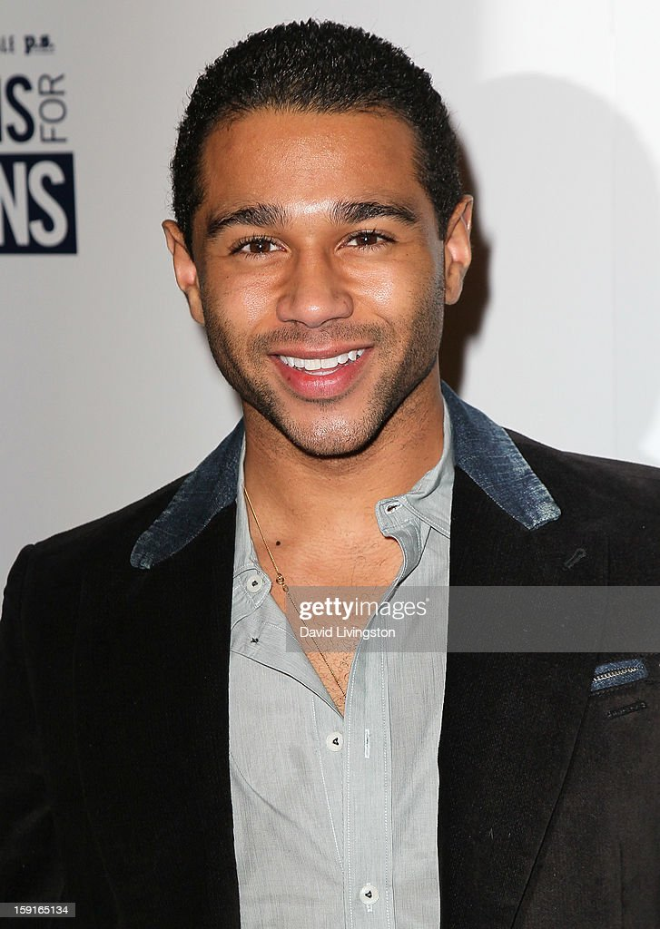 Actor <a gi-track='captionPersonalityLinkClicked' href=/galleries/search?phrase=Corbin+Bleu&family=editorial&specificpeople=651888 ng-click='$event.stopPropagation()'>Corbin Bleu</a> attends DoSomething.org and Aeropostale celebrating the launch of the 6th Annual 'Teens For Jeans' campaign hosted by Chloe Moretz at Palihouse on January 8, 2013 in West Hollywood, California.