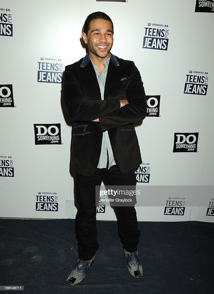 Actor <a gi-track='captionPersonalityLinkClicked' href=/galleries/search?phrase=Corbin+Bleu&family=editorial&specificpeople=651888 ng-click='$event.stopPropagation()'>Corbin Bleu</a> attends the 6th Annual Teens for Jeans Campaign Party held at Palihouse on January 8, 2013 in West Hollywood, California.