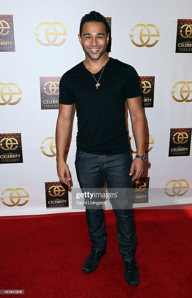 Actor Corbin Bleu attends the Celebrity Experience interactive event at the Hilton Los Angeles/Universal City on July 9 2014 in Universal City...